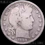 1898 Barber Half Dollar G-4 or Better Liberty Head Half Dollar