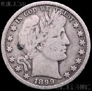 1899 Barber Half Dollar G-4 or Better Liberty Head Half Dollar