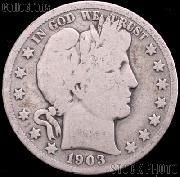 1903 Barber Half Dollar G-4 or Better Liberty Head Half Dollar