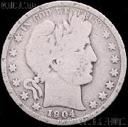 1904-S Barber Half Dollar G-4 or Better Liberty Head Half Dollar
