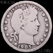 1905 Barber Quarter G-4 or Better Liberty Head Quarter