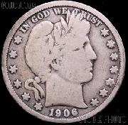 1906-D Barber Half Dollar G-4 or Better Liberty Head Half Dollar
