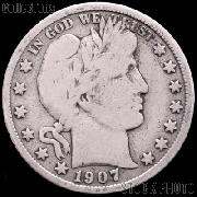 1907 Barber Quarter G-4 or Better Liberty Head Quarter