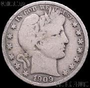 1909 Barber Half Dollar G-4 or Better Liberty Head Half Dollar