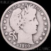 1910 Barber Half Dollar G-4 or Better Liberty Head Half Dollar