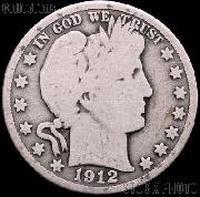 1912 Barber Quarter G-4 or Better Liberty Head Quarter
