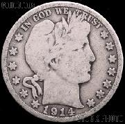 1914 Barber Quarter G-4 or Better Liberty Head Quarter