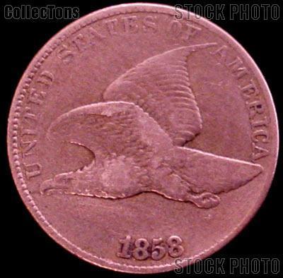 1858 Flying Eagle Cent LARGE LETTERS G-4 or Better Flying Eagle Penny