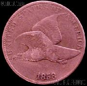 1858 Flying Eagle Cent LARGE LETTERS G-4 or Better Flying Eagle Penny