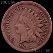 1862 Indian Head Cent Variety 2 Oak Wreath w/ Shield G-4 or Better Indian Penny