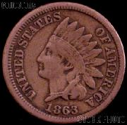 1863 Indian Head Cent Variety 2 Oak Wreath w/ Shield G-4 or Better Indian Penny