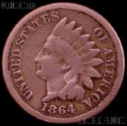 1864 Indian Head Cent Variety 2 Oak Wreath w/ Shield G-4 or Better Indian Penny