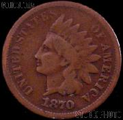 1870 Indian Head Cent Variety 3 Bronze G-4 or Better Indian Penny