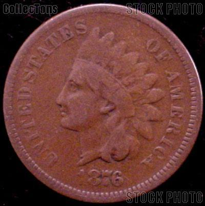 1876 Indian Head Cent Variety 3 Bronze G-4 or Better Indian Penny