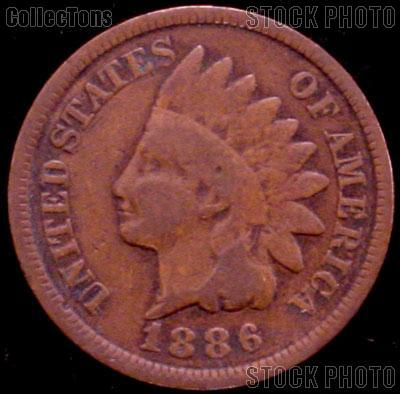 1886 Indian Head Cent Variety 3 Bronze G-4 or Better Indian Penny