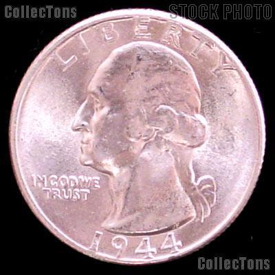 1944-D Washington Silver Quarter Gem BU (Brilliant Uncirculated)