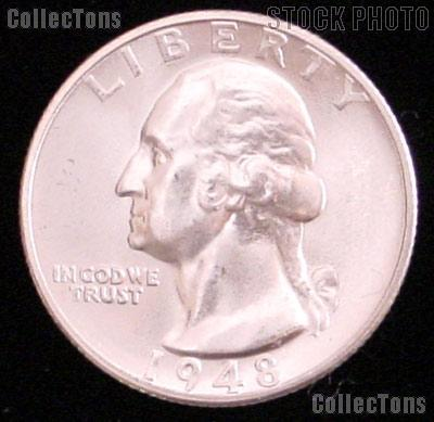 1948-D Washington Silver Quarter Gem BU (Brilliant Uncirculated)