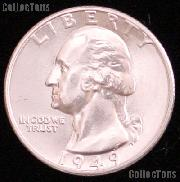 1949 Washington Silver Quarter Gem BU (Brilliant Uncirculated)