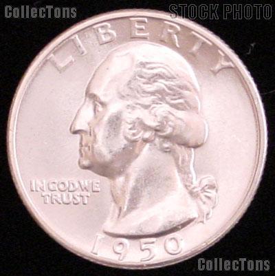1950 Washington Silver Quarter Gem BU (Brilliant Uncirculated)