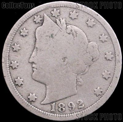 1892 Liberty Head V Nickel G-4 or Better