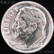 1952 Roosevelt Dime SILVER PROOF 1952 Dime Silver Coin