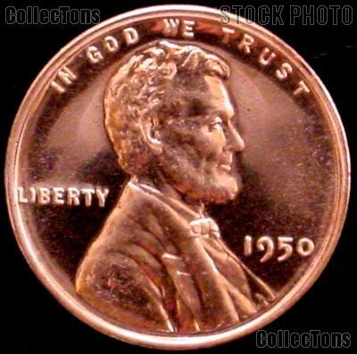 1950 Wheat Penny Lincoln Wheat Cent Gem PROOF RED