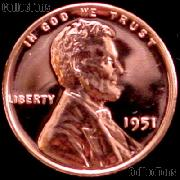 1951 Wheat Penny Lincoln Wheat Cent Gem PROOF RED
