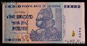 Zimbabwe 100 Trillion Dollar Bill Bank Note 2008 Uncirculated Banknote - Hyperinflation Money