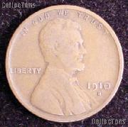 1910-S Wheat Penny Lincoln Wheat Cent Circulated G-4 or Better RARE DATE