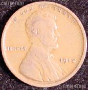 1912 Wheat Penny Lincoln Wheat Cent Circulated G-4 or Better