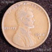 1912-S Wheat Penny Lincoln Wheat Cent Circulated G-4 or Better RARE DATE