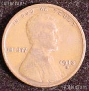 1913-D Wheat Penny Lincoln Wheat Cent Circulated G-4 or Better