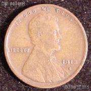 1913-S Wheat Penny Lincoln Wheat Cent Circulated G-4 or Better RARE DATE