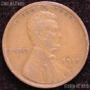 1917-D Wheat Penny Lincoln Wheat Cent Circulated G-4 or Better
