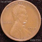 1917-S Wheat Penny Lincoln Wheat Cent Circulated G-4 or Better