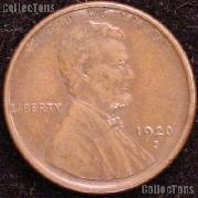 1920-S Wheat Penny Lincoln Wheat Cent Circulated G-4 or Better