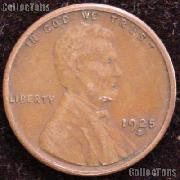 1925-S Wheat Penny Lincoln Wheat Cent Circulated G-4 or Better