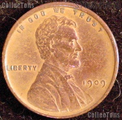 1909 VDB Wheat Penny Lincoln Wheat Cent Circulated G-4 or Better