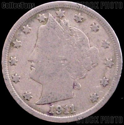 1911 Liberty Head V Nickel G-4 or Better
