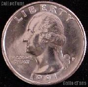 1991-P Washington Quarter Gem BU (Brilliant Uncirculated)