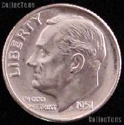 1951 Roosevelt Silver Dime Gem BU (Brilliant Uncirculated)