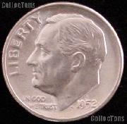 1952 Roosevelt Silver Dime Gem BU (Brilliant Uncirculated)