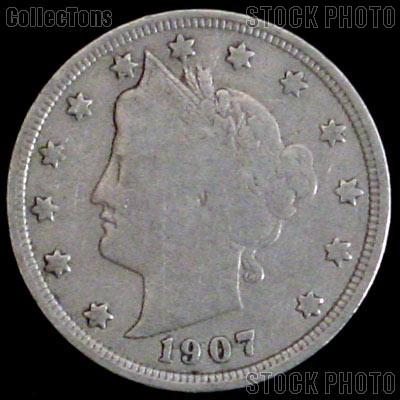 1907 Liberty Head V Nickel G-4 or Better