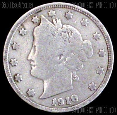 1910 Liberty Head V Nickel G-4 or Better