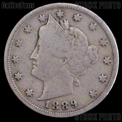 1889 Liberty Head V Nickel G-4 or Better