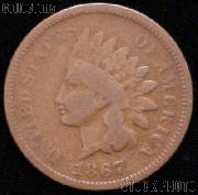 1867 Indian Head Cent Variety 3 Bronze G-4 or Better Indian Penny
