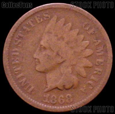 1868 Indian Head Cent Variety 3 Bronze G-4 or Better Indian Penny