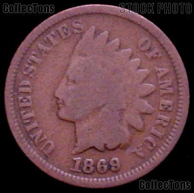 1869 Indian Head Cent Variety 3 Bronze G-4 or Better Indian Penny