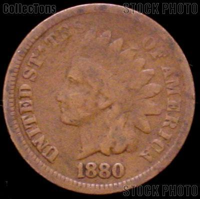 1880 Indian Head Cent Variety 3 Bronze G-4 or Better Indian Penny