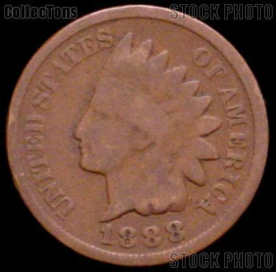 1888 Indian Head Cent Variety 3 Bronze G-4 or Better Indian Penny